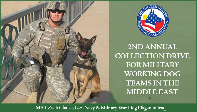 Support U.S. Miltary Working Dog Teams This Season of Giving